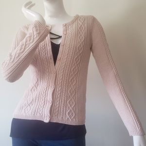 Blush sweater cardigan